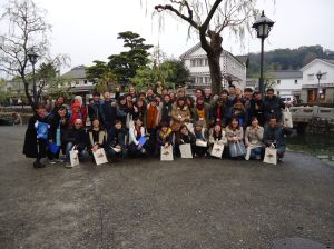 course A and course B team, at Kurashiki