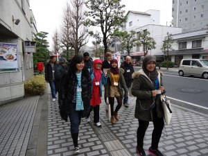 walking to kurashiki,