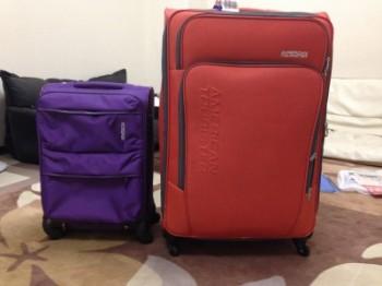 Travel bag saya. Ukuran L dan ukuran kabin.