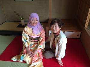 With my Okaasan, Niioka Kanae
